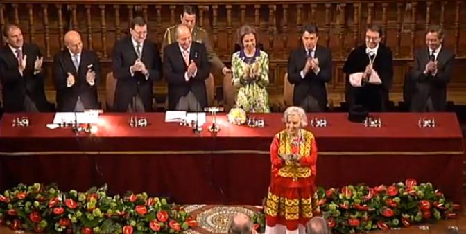 Elena Poniatowska recibe el Premio Cervantes
