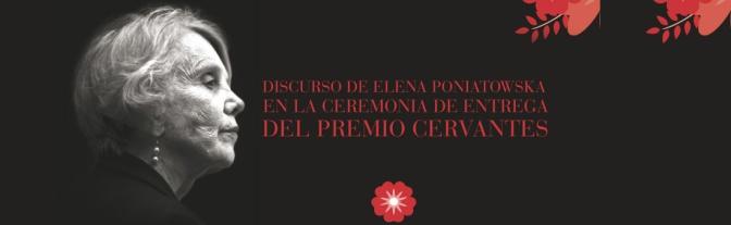 Discurso de Elena Poniatowska al recibir el Premio Cervantes