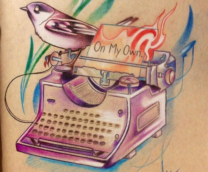 15 tatuajes de máquinas de escribir que te darán inspiración